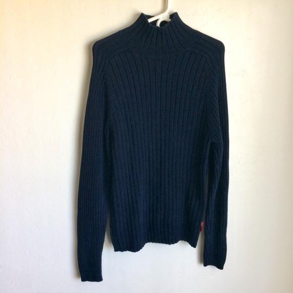Abercrombie & Fitch Other - Abercrombie Dark Blue Mock Turtleneck Sweater Sz L